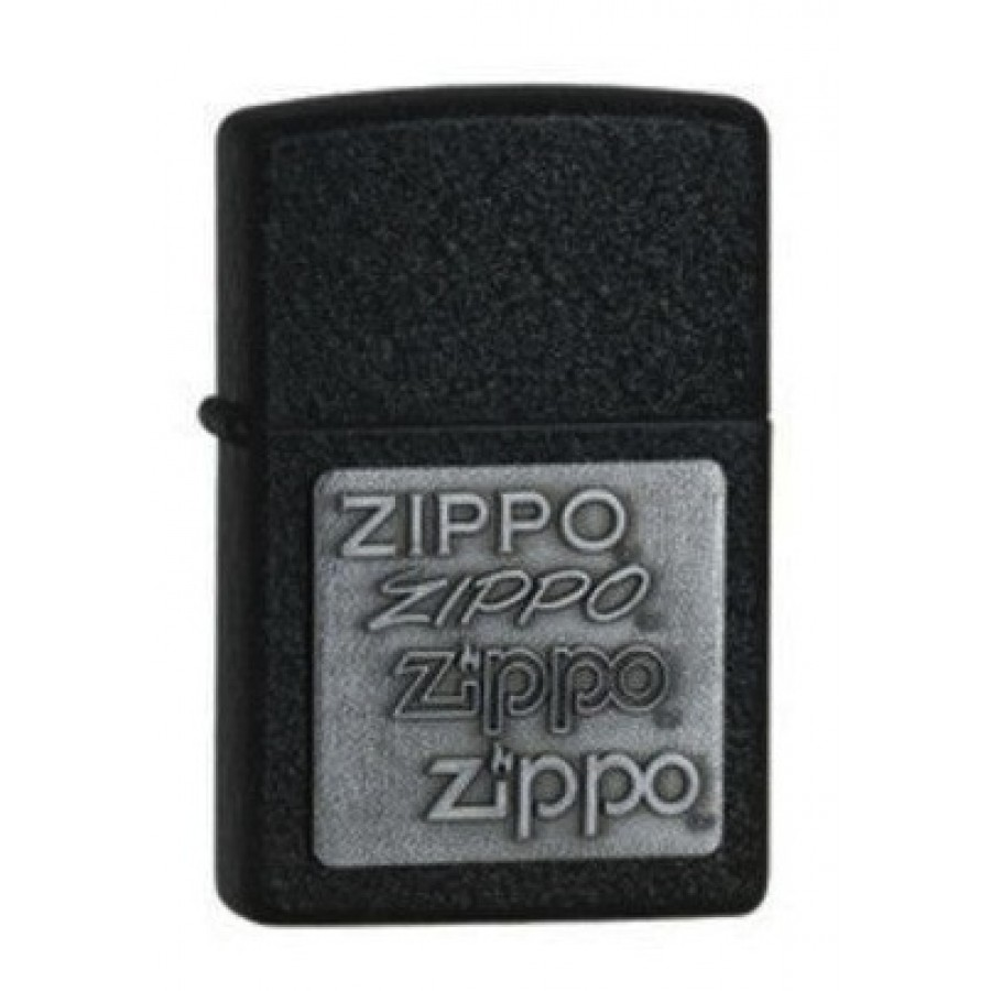 Zippo embleemidega must tulemasin