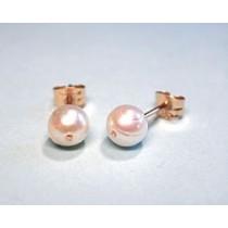 Kõrvarõngad valge pärliga, kuld 0,65g