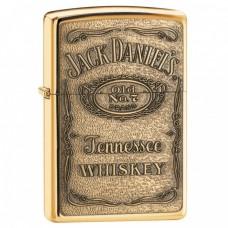 Jack Daniel's embleemiga klassikaline poleeritud messing tulemasin