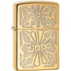 Zippo disainiga poleeritud messingust tulemasin